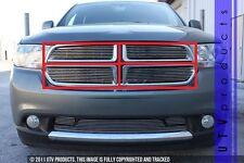 GTG 2011 - 2013 Dodge Durango 4PC Polished Upper Overlay Billet Grille Grill Kit