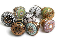 8 x Mixed Shabby Chic Ceramic Cupboard Handles Pulls Cabinet Knobs (MG-179)