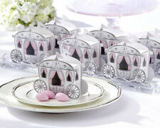 Enchanted Carriage Fairytale Wedding Bridal Shower Favor Boxes 24/pk