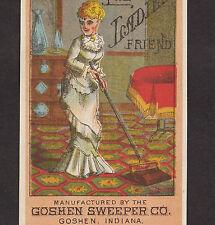 Ladies Friend Goshen Carpet Sweeper Parlor Rug Victorian Advertising Trade Card