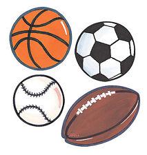 Football Baseball Soccer Basketball Sport Balls 25 Wallies Wall Stickers Decals