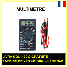 Multimètre ampèremètre ohmmètre voltmètre testeur électrique numérique à pile 9v