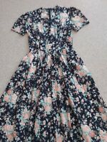 Vintage Laura Ashley  Cotton Lawn Tea Dress  UK 12 (EU 38 US 8)