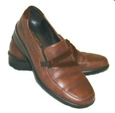 Stonefly Brown Leather Loafers Size 6 Euro Size 36 Suede Detail Very Nice