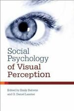 Social Psychology of Visual Perception (2010, Hardcover)