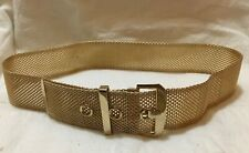 Girl's Golden Belt, flexible linked-metal design, 23.5-25.5 inch waist