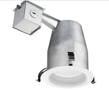4 in. Matte White Recessed LED Baffle Kit