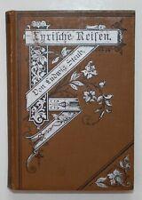 1878 Tirol Südtirol Reise Italien / Ludwig Steub Lyrische Reisen.