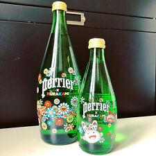 2 Bottles Perrier Takashi Murakami KAIKAI Limited Edition Serigraphie 75&33 Cl