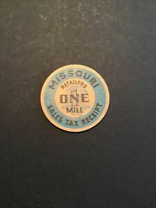 One Mill Missouri Sales Tax Receipt Wooden Token