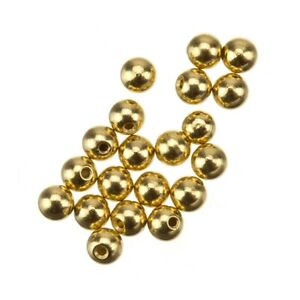 Memory Wire Round Gold Plated Bead End Caps 3mm Pack of 20 (E41/12)