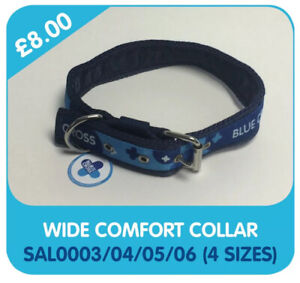 """Blue Cross For Pets Wide Comfort Dog Collar 4 Sizes 22"""" 24"""" 26"""" 28"""""""