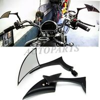 BLACK BLADE SPEAR CNC ALUMINUM MIRRORS FOR MOTORCYCLE CRUISER CHOPPER SCOOTER US