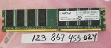 512MB PC RAM DDR1 400 PC3200 DDR 400 184PIN NON-ECC  SINGLE RANK 1RX8 32X8 UBDIM