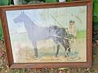 Dan Patch 1:56 Antique Framed Print Racing Horse Possible canvas or Cloth