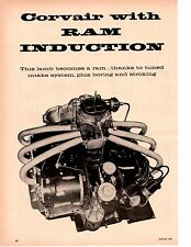 1960 CHEVROLET CORVAIR WITH RAM INDUCTION ~ ORIGINAL 6-PAGE ARTICLE / AD