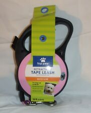 TOP PAW ~ RETRACTABLE TAPE LEASH ~ 16 FEET ~ MEDIUM ~ UP to 80 POUNDS~ PINK *NEW