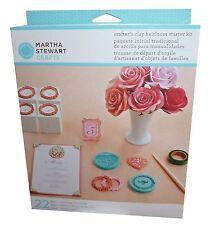 Martha Stewart crafters clay heirloom starter kit set frames heart molds etc