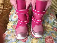 Girls Youth Airwalk Snow Boots Very EUC Fur Lined Velcro Thermolite Size 5 Women