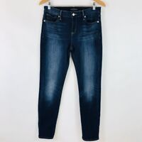 Lucky Brand Womens 8 29 Dark Wash Brooke Skinny Leg Jeans Distressed Stretchy