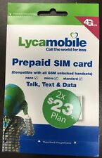 Lycamobile Preloaded $23X2 Months Unlimited Nationwide Talk,Text & Data 3in1 Sim