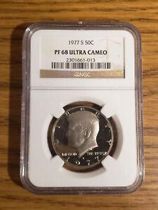 USA 1977 S NGC PR68 ULTRA CAMEO Kennedy Half Dollar