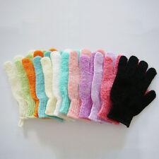 New Shower Exfoliating Wash Skin Spa Bath Gloves Massage Loofah Scrubber 1 Pair