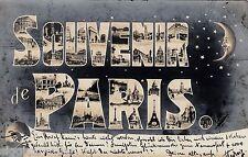 Souvenir de Paris AK 1905 multi vue moon stars lune France 1601253