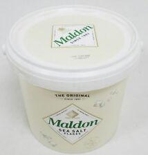 Maldon Sea Salt Flakes 3.3lbs 1.5kg Tub Original Natural Crystals Exp 12/2031