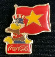 Rare Vintage 1984 Los Angeles Olympics Coca Cola Vietnam Flag Pin! WPIN157