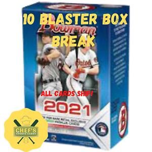PITTSBURGH PIRATES - 2021 BOWMAN BASEBALL - 10 BLASTER BOX (1/4 CASE) BREAK #24