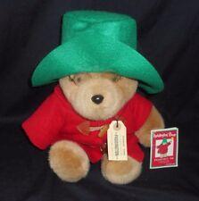 VINTAGE EDEN MACY'S CHRISTMAS PADDINGTON TEDDY BEAR STUFFED ANIMAL PLUSH TOY TAG