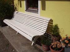 Parkbank Gartenbank Hausbank ca 2,5 m lang Wetterschutzfarbe weiß