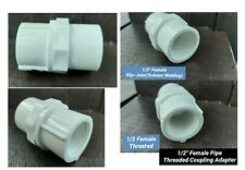 """1/2"""" Female Pipe Threaded & Slip-Joint Coupling Adapter Drinking Water Safe USA"""