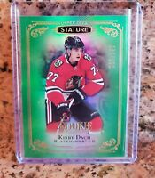 2019-20 UD Stature Kirby Dach GREEN ROOKIE #125-Blackhawks 145/149