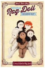 Sewing a Rag Doll Body Kit - Cream calico/Brown hair  - 54cm when made