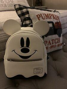 Loungefly Ghost Mickey Mini Backpack Disney Halloween Glows In Dark