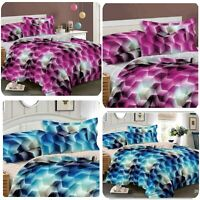 3D Duvet Set With Quilt Cover, Fitted Sheet & Pillow cases Single Double Bedding