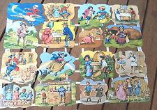 Vtg Die Cut Scrap Sheet Childs Fairy Tales Glanzbilder MLP 1638 & 1639 England