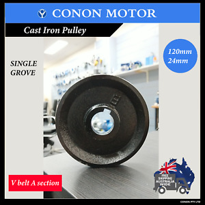 Pulley 120mm shaft size 24mm Single Groove Belt Drive pulley