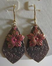 Jody Coyote Earrings JC0330 new Blush Collection QM572-01 gold flower dangle