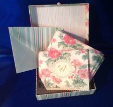 "Monogram Initial ""U"" Carol Wilson Stationery Set 15 Note Cards & Decorative Box"