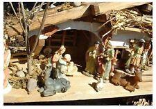 Krippe schönes Holzhaus 30cm Weihnachten Haus Modellhaus