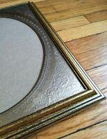 Antique Wooden Frames with Glass Set Gold/Black Metal Floral Stencil