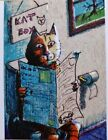 """Jacob Landis Limited edition ACEO print /250 kitty litter toilet """"The Cat Box"""""""