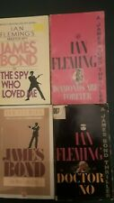 Lot Of Four James Bond 007 Vintage Paperbacks