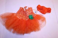 Infant/Baby Girls Pumpkin  0/6 Months Halloween Costume (Orange) Target