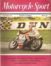 *MOTORCYCLE SPORT MAGAZINE - NOVEMBER 1977 - ft COUPE D'ENDURANCE WINNER [NO]
