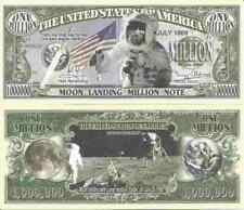 Moon Landing Apollo 11 20th July 1969 Lunar Module Eagle Million Dollar Bills x2