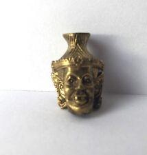 Statuette figurine laiton amulette bouddhisme BOUDDHA MASQUE Thaïlande b173'